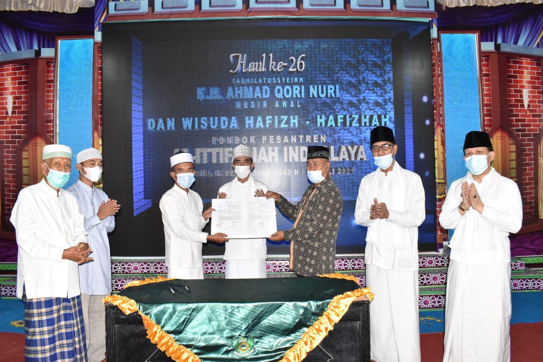 Haul ke-26 Fadhilatusy Syeikh K.H Ahmad Qori Nuri dan Wisuda Tahfidz Al Quran Pondok Pesantren Al Ittifaqiah Indralaya Tahun 1442 H/2021 H